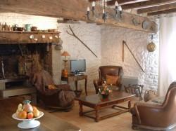 Salon avec cheminee