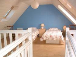 Blue bedroom second floor